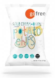 go free® Sour Cream and Onion Potato Chips